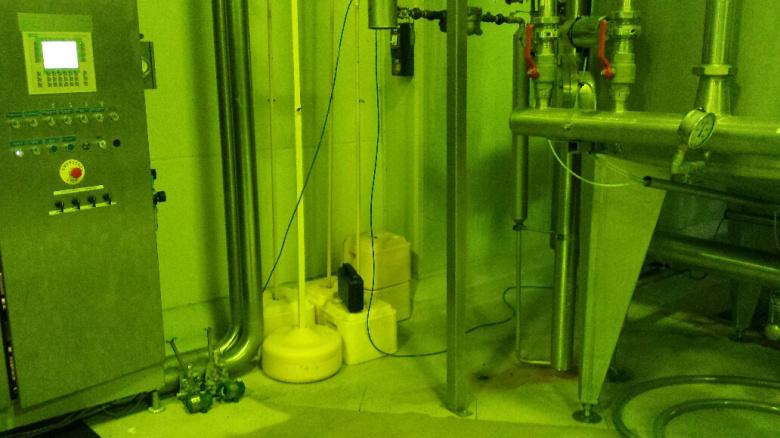 Imagen del entorno del gabinete, ubicado a 1m de la salida de vapor de agua