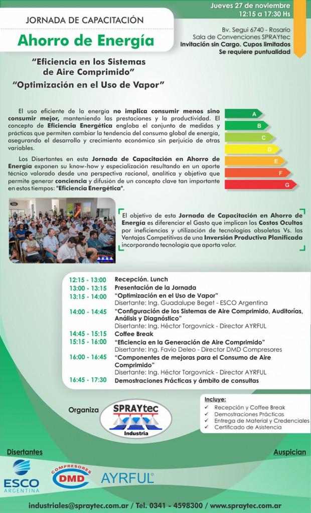 Jornada de Capacitacion sobre Ahorro de Energia AYRFUL - SPRAYtec