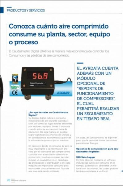 Nota Caudalímetros - Máquinas y Equipos Junio 2015 2