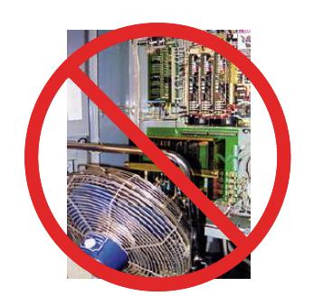 evite el uso del ventilador para refrigerar un gabinete