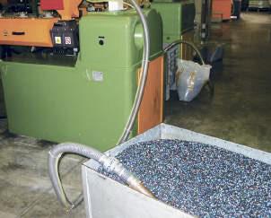 Transporte por Vacio en una aplicación de carga de tolva con pellets de plástico