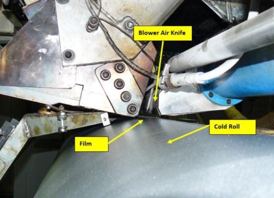 cortina de aire industrial en industria plástica